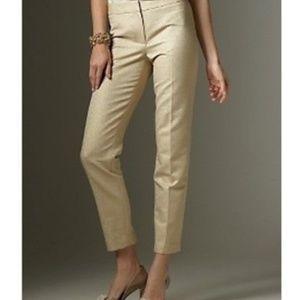 Talbot Gold Pants Ankle Metallic New
